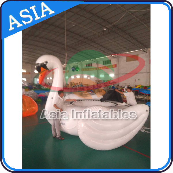 Water Towable Inflatable Sports Equopment, Giant Swan Water Trampoline for Fun