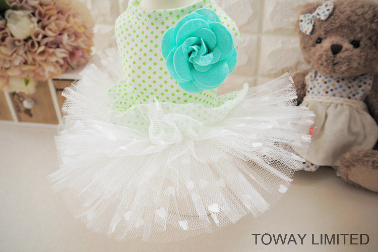 Lovely Summer Dog Dress Printing Dots Tutu Pet Skirts
