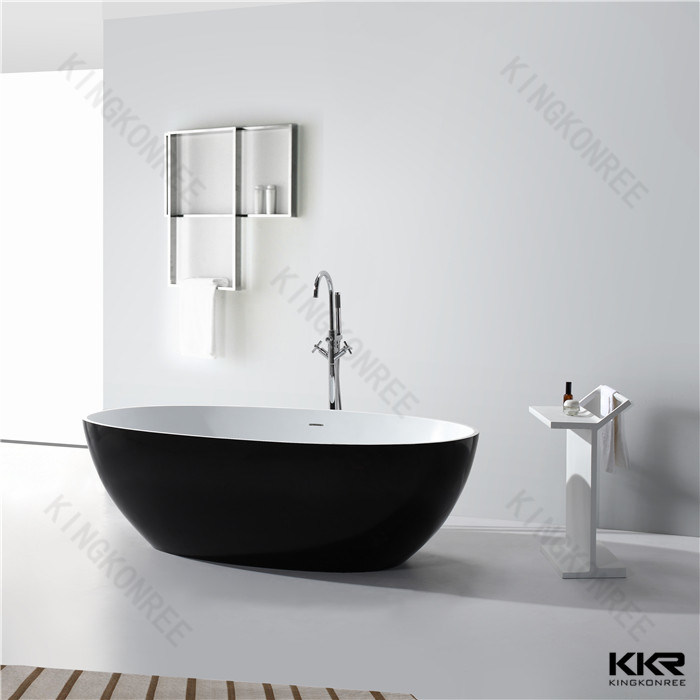 Indoor for Hotel Project Solid Surface Stone Bathtub for Sale