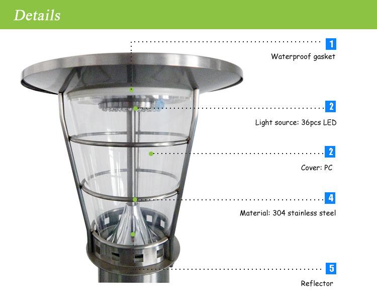 LED Stainless Steel Solar Garden Decking Lights, Solar Fence Light, LED Solar Night Light
