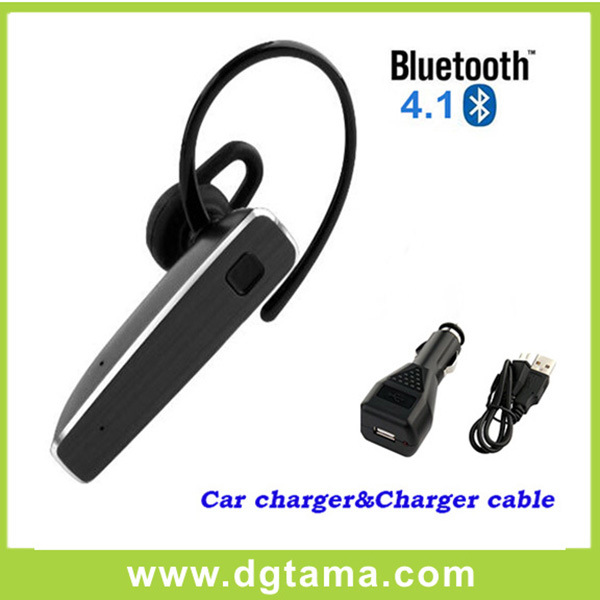 Bluetooth Headset Earphone with Car Charger and USB Charger Cable