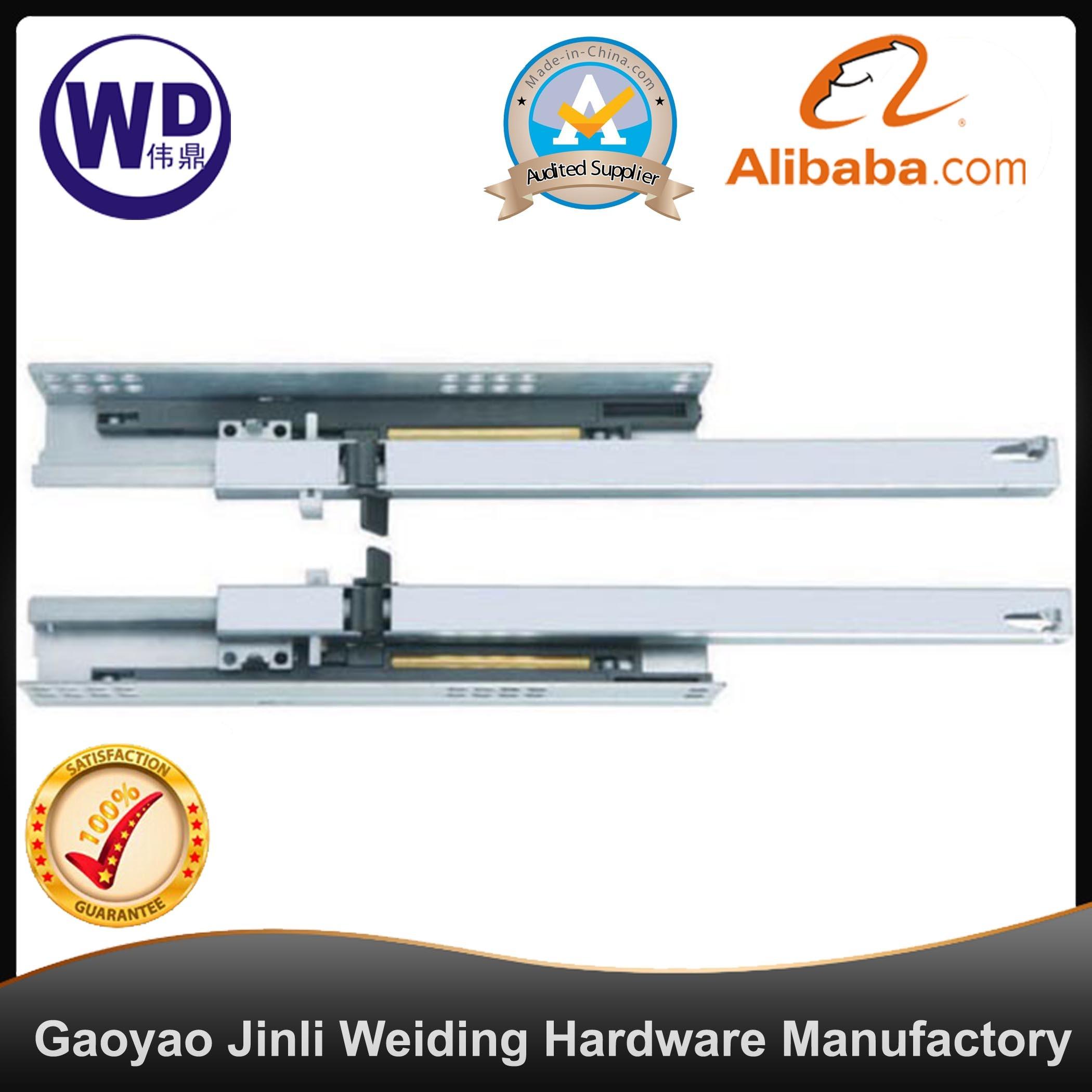 SL-2507 16mm Drawer Side Two Fold Soft Close Concealed Slide