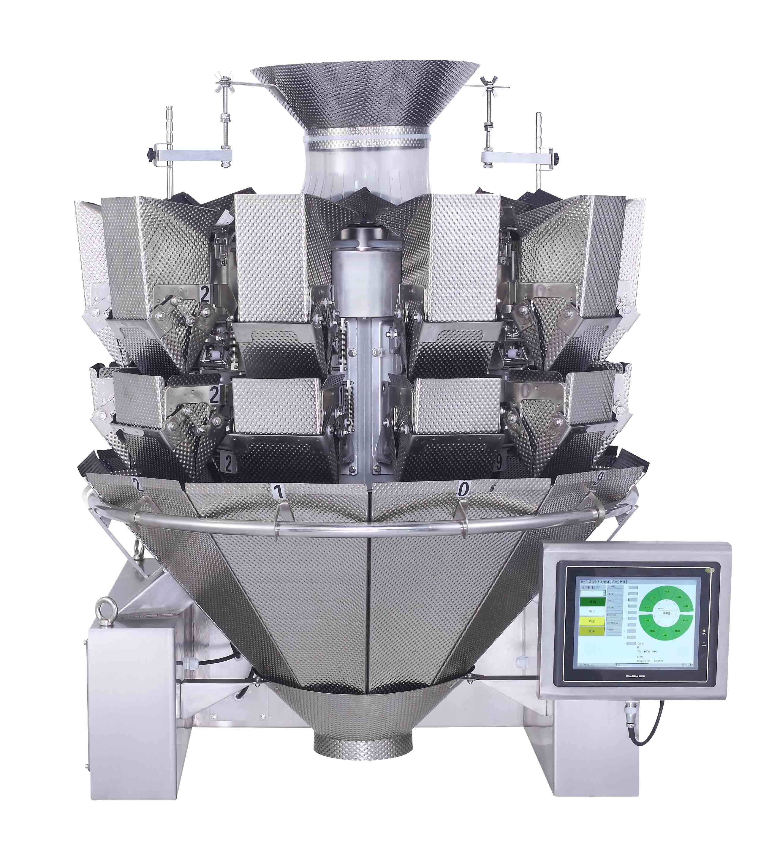 10 Heads Double Door Multihead Weigher with Touch Screen