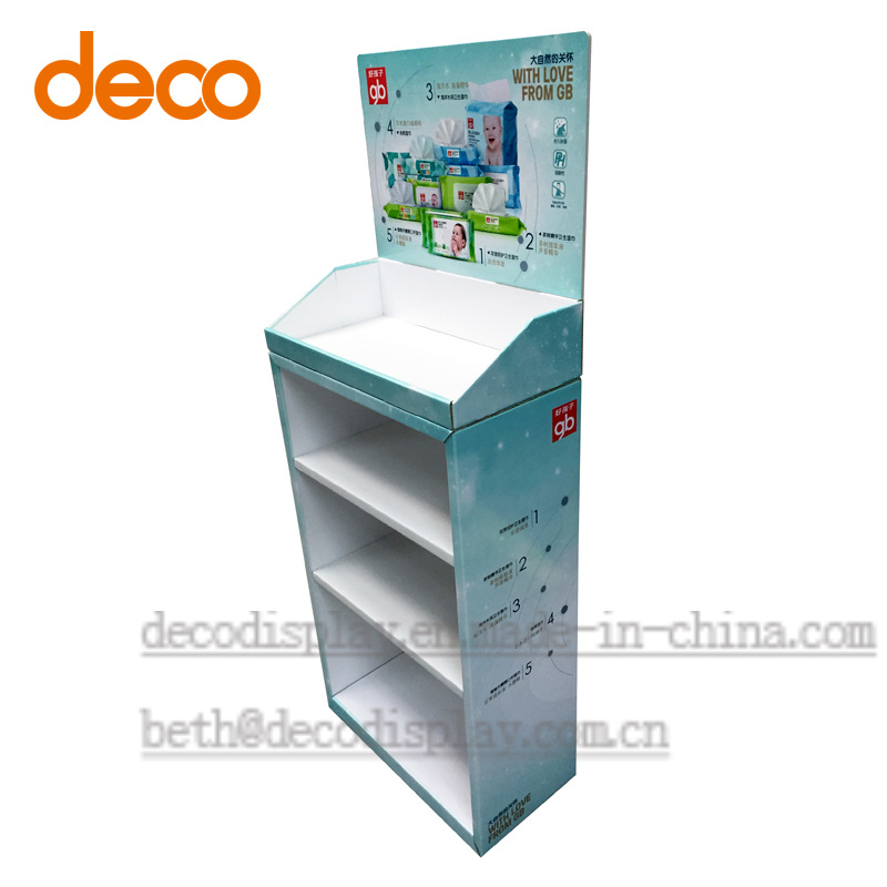 Cardboard Floor Display Stand Paper Display Shelf for Retail