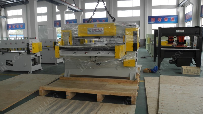 Automatic Double-Side Hydraulic Cutting Machine by Swing Arm Type Feeding