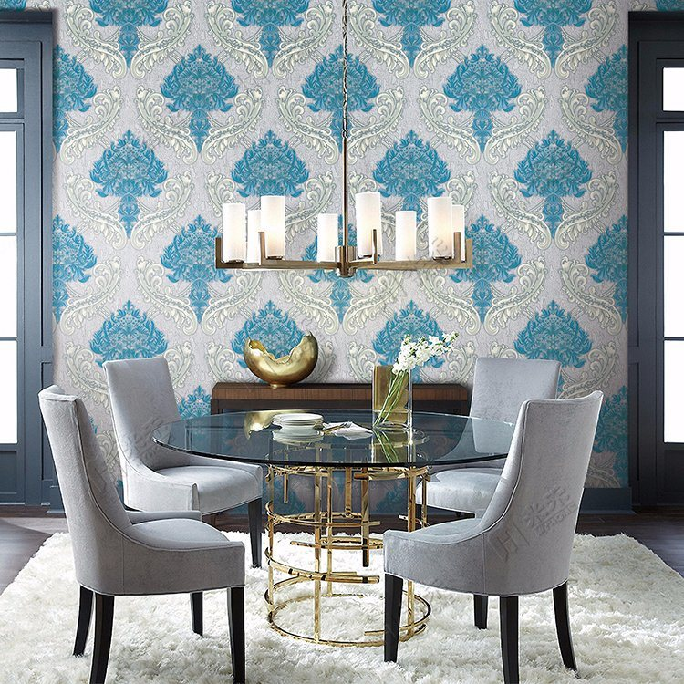 Cheap and Fine Luxury Flower Design Wall Covering Interior Wall Decorative Embossed Wallpaper