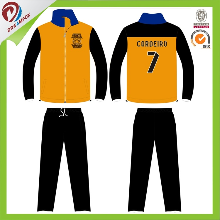 Breathable Fashion Cheap Custom Sublimation Tracksuit Design