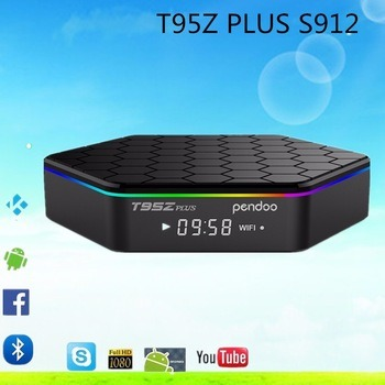 Set  Top  Box  Android6.0  Tvbox  Media Player Amlogic S912 T95z Plus