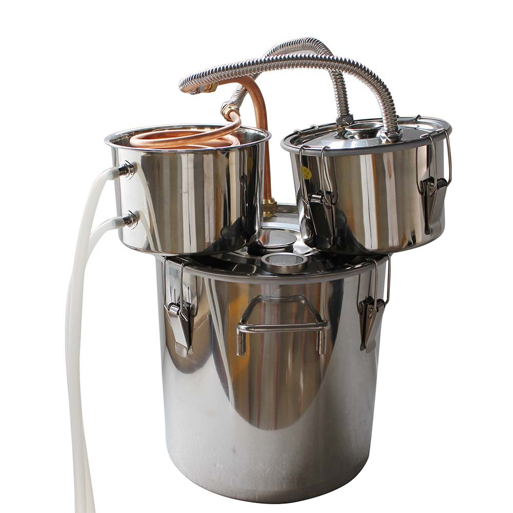 18L 5gal Thump Keg Added Double Distilling Equipment Scotch Punch Spirits Making Kit