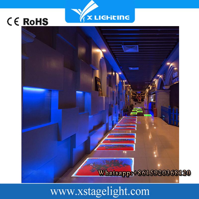 2016 Guangzhou Supllier Hot Sell Liquid Interactive LED Dance Floor