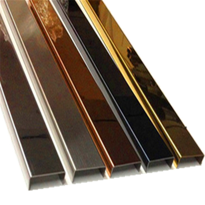 China Manufacture Wall Decoration Profile Stainless Steel Metal Trims