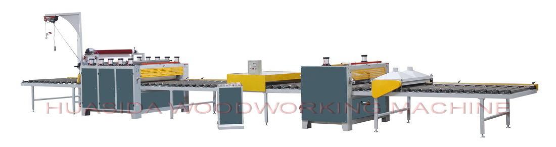 Woodworking Pneumatic Lifting Paper Laminating Machine
