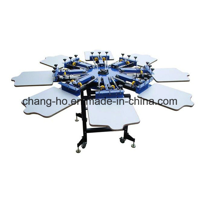 8 Color Garment Screen Printing Table