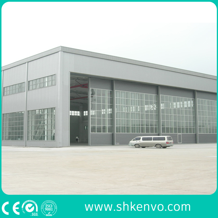 PU-Panel Automatic Sliding Aircraft Garage Door