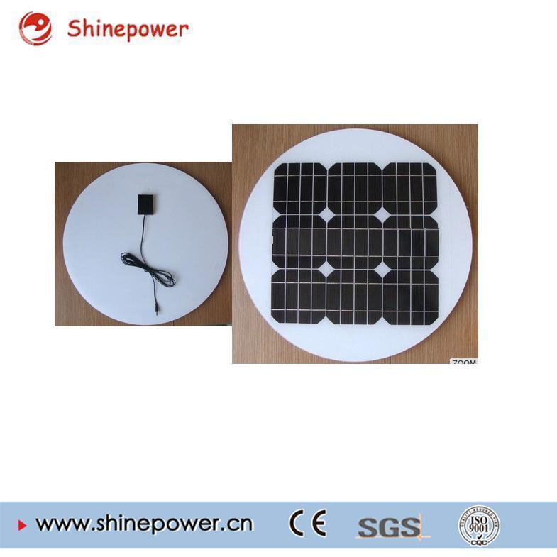 Round 20W Glass Solar Panel for Solar Street Light