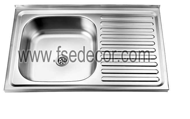 China Stainless Steel Kitchen Wash Basin Sink (FSE-SS-T5080Q) Photos ...