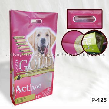Quad Sealed Dog Food Bag with Handle