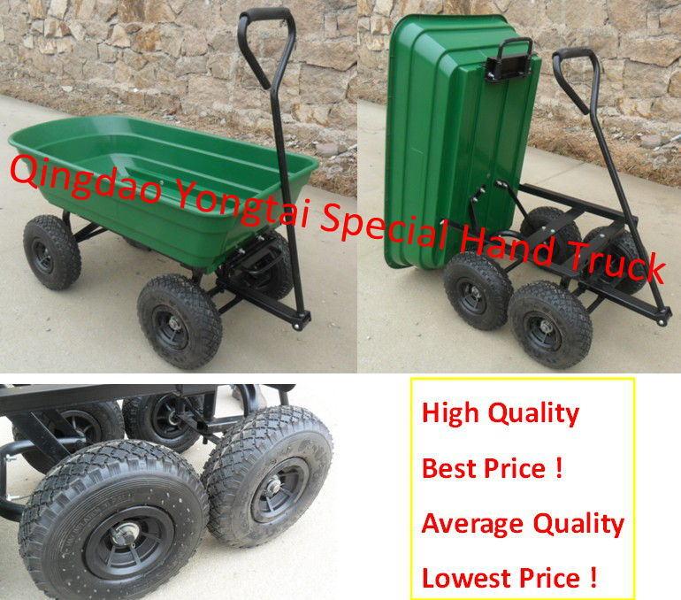 Green Plastic Garden Dump Cart