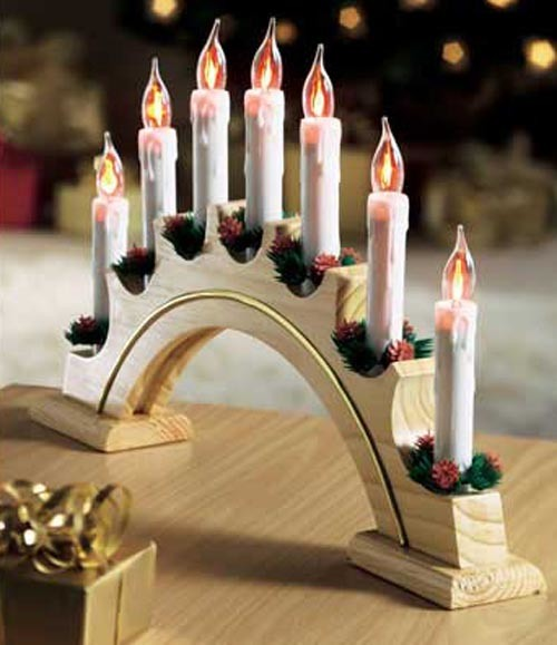 China flickering candle arch christmas lights candle for Arch candle christmas decoration