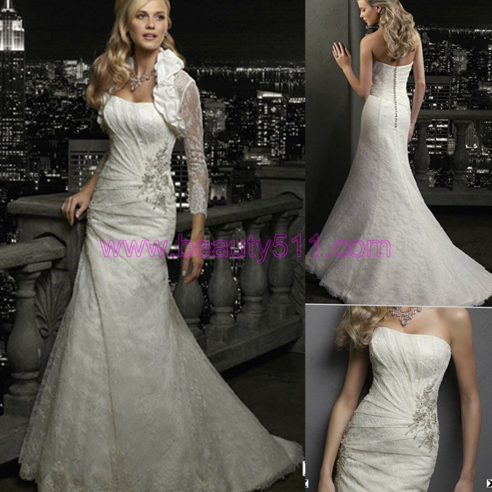 elegant lace wedding dresses 2012