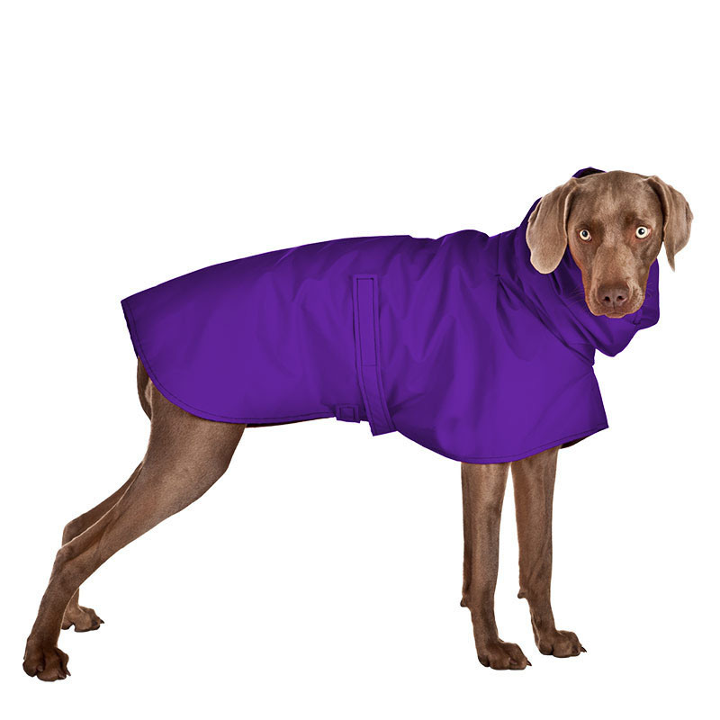 Waterproof Nylon Pet Clothes Purple Dog Raincoat