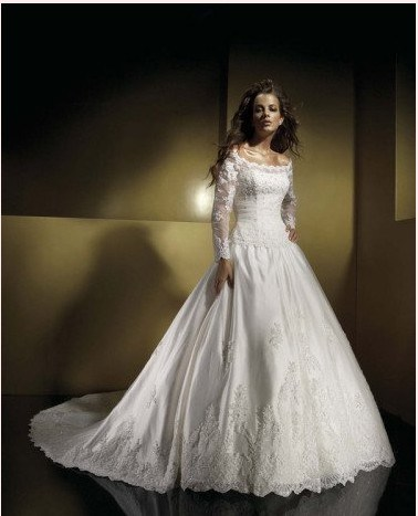 Long Sleeve Wedding Dress FyhWd7154