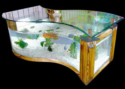 Acrylic Tea Table Aquariums/Office Table Fish Tank - China Acrylic ...