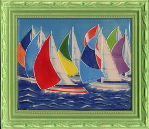 Ceramic Framed Decorative Painting 310x360mm