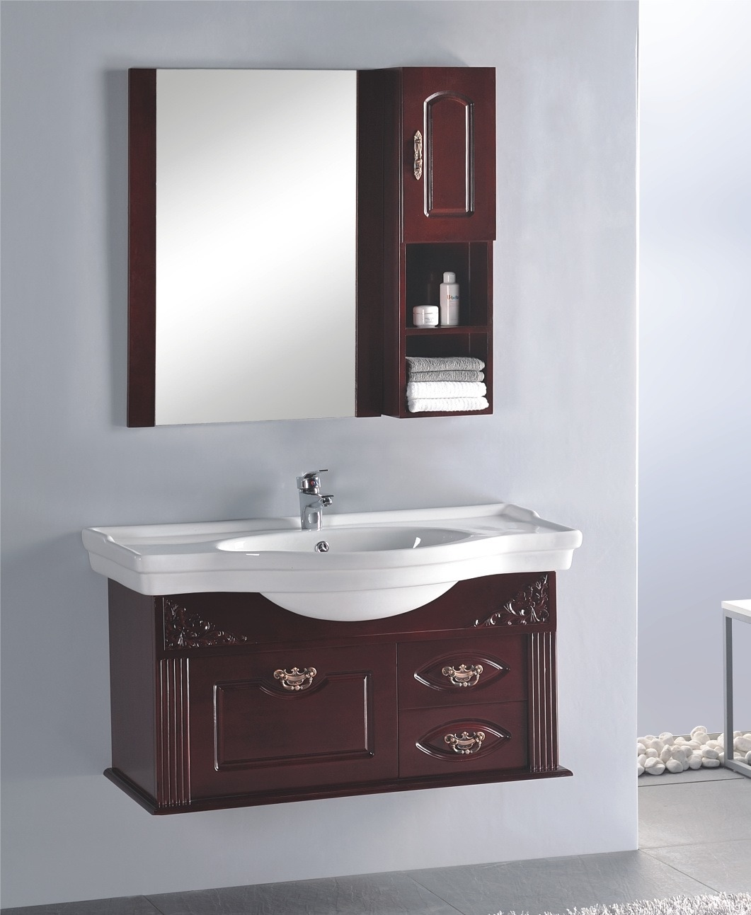 China wood bathroom vanities china bathroom vanities for Bathroom vanities