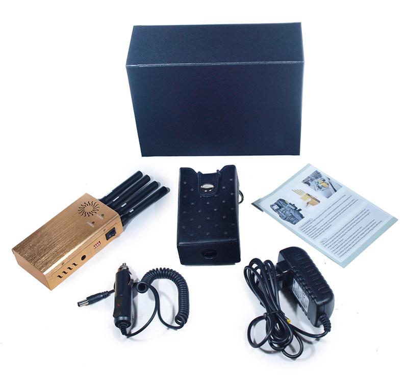 2015 New Design Portable 4 Bands GPS Cellphone Signal Jamer