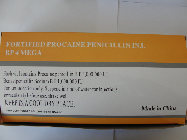Procaine Penicillin 4mega Powder for Injection