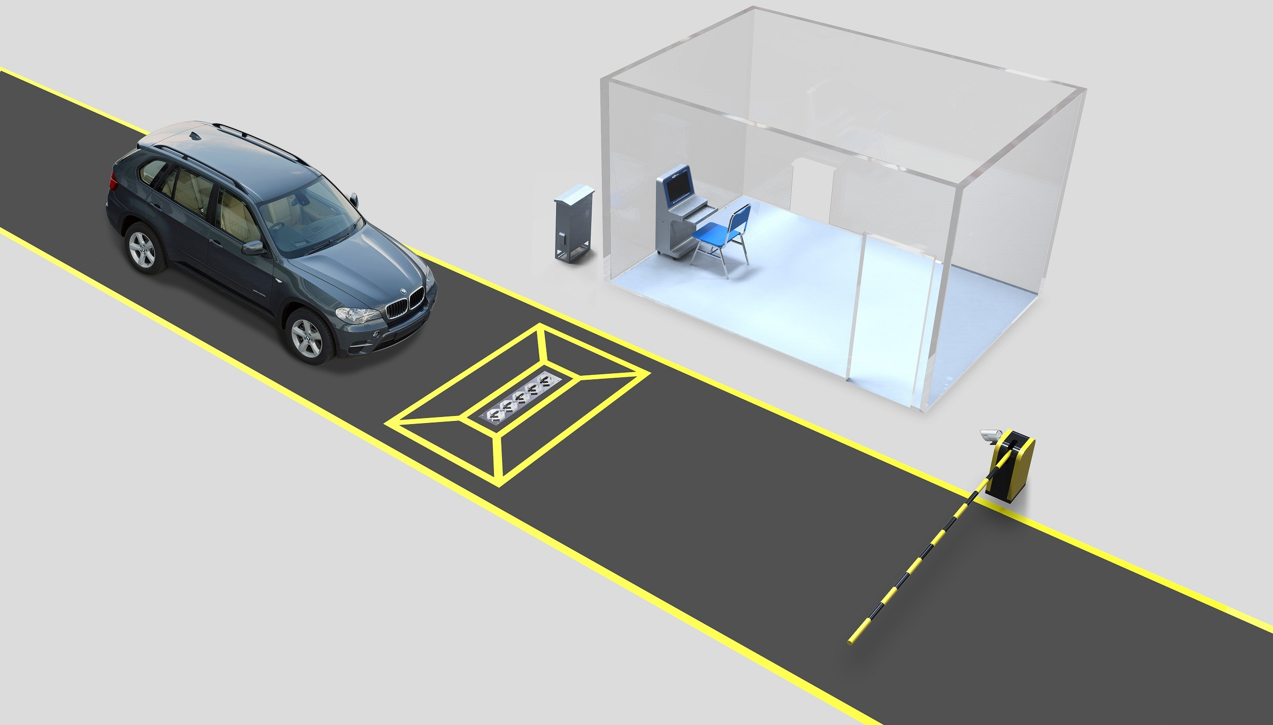 Manufacture Fixed Under Vehicle Surveillance System for Security