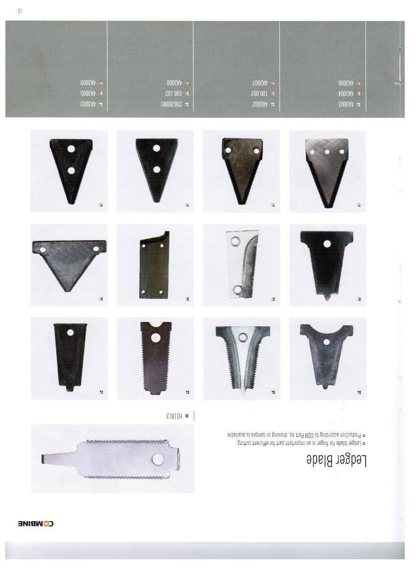 Harvester Stationary Knife Blade for Knife Guard