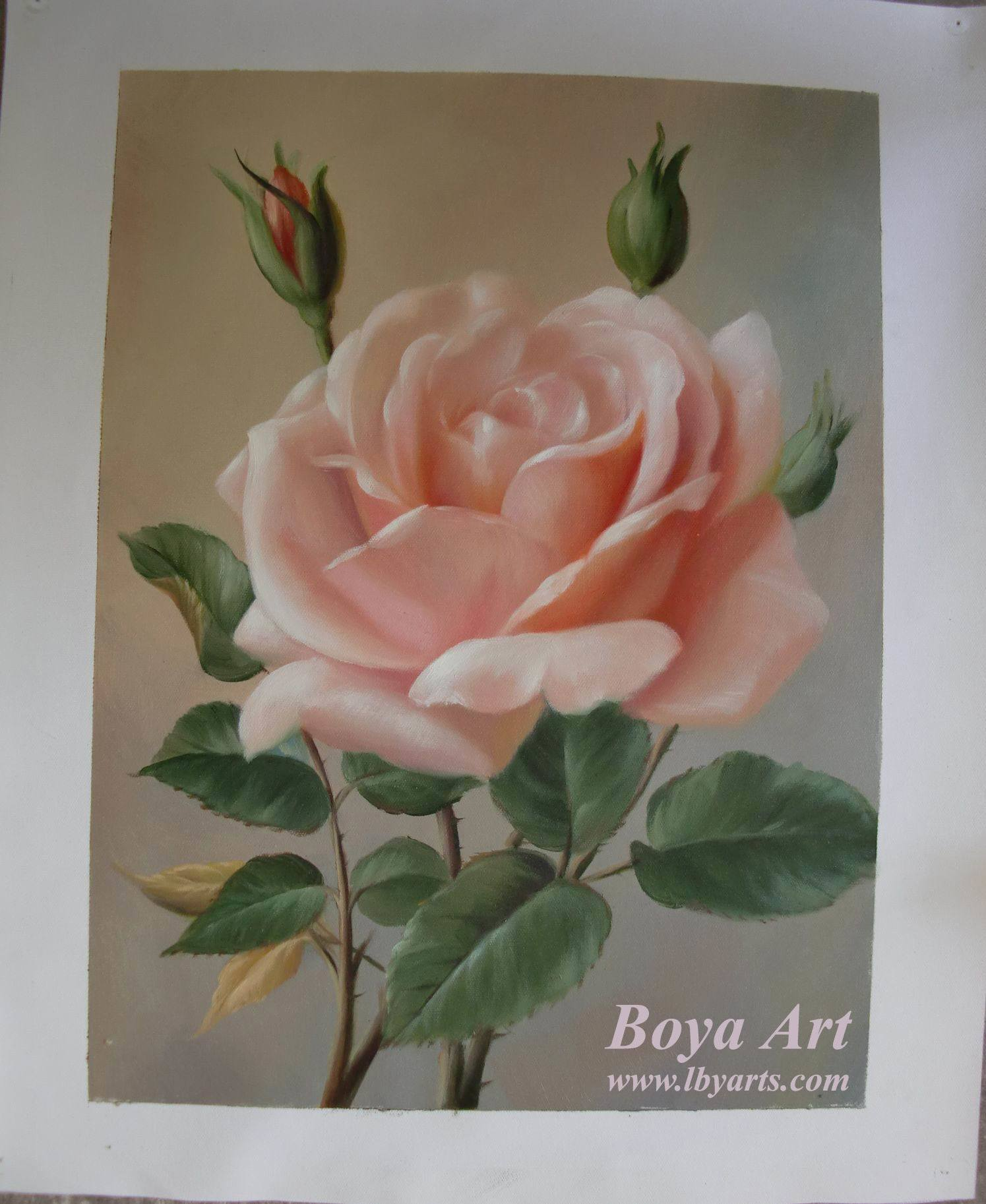 China flower oil painting cimg3001 china oil painting for How to oil paint flowers