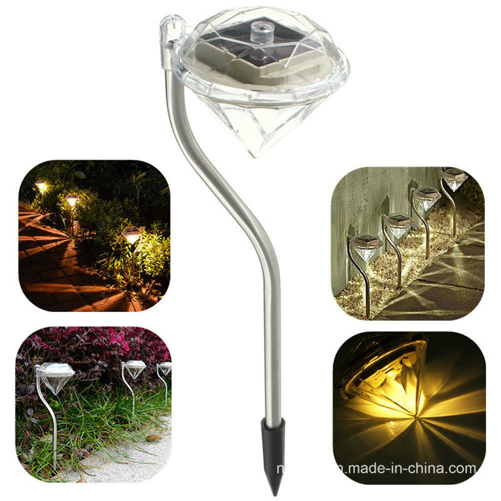 Solar Powered Garden Diamond Lawn Light (RS002)