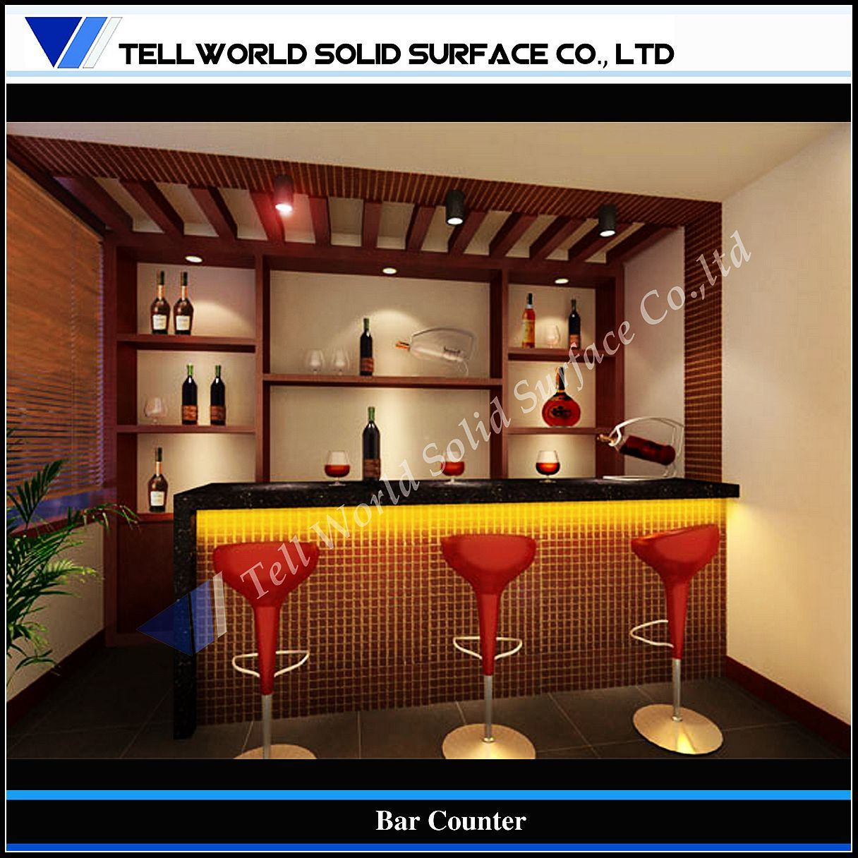 Home Bar Counter: China 150 Kinds Design Of Commercial LED Snack Bar Counter