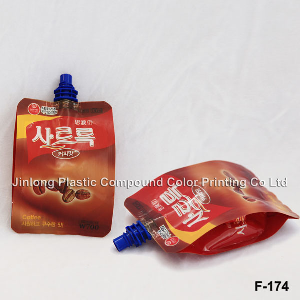 Plastic Bag Stand up Spout Pouch with Bottom Gusset