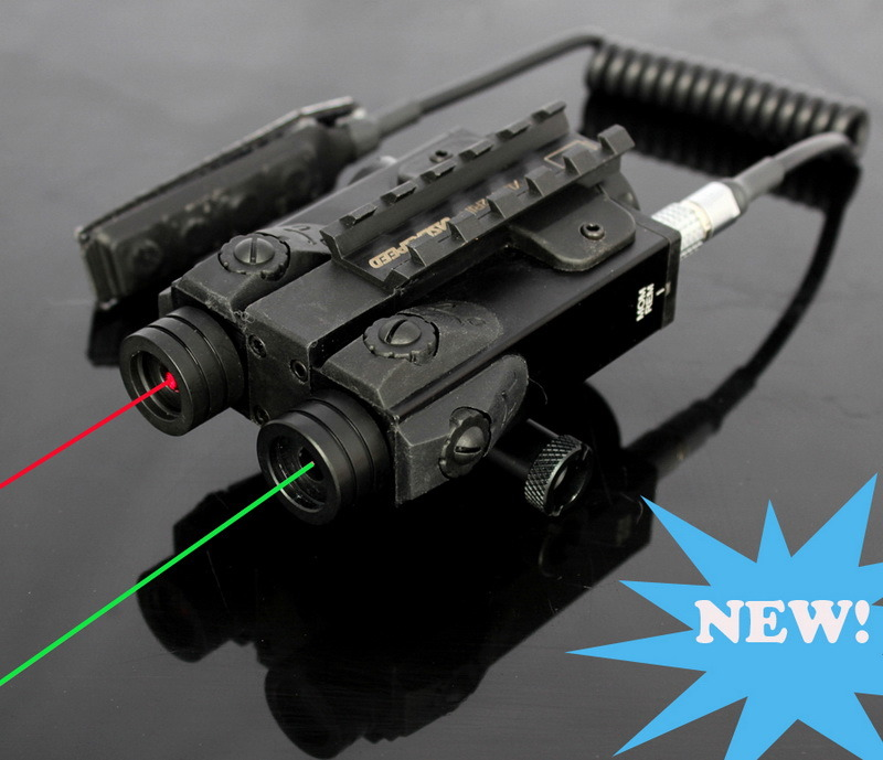 Military Standard Dual Green Laser and Red Laser Gun Light Sight Aimer (ES-XL-4GR)
