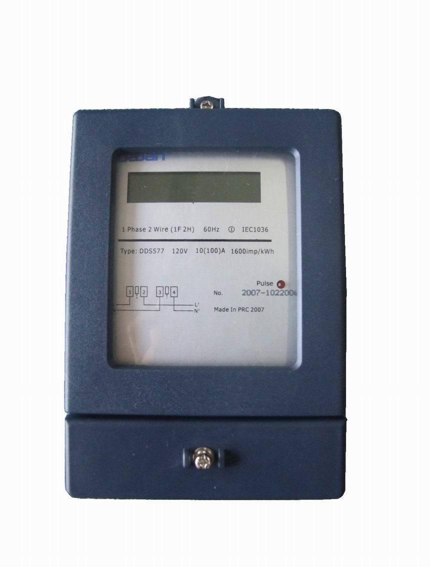 Watt Hour Meter : Single phase electronic watt hour meter dds china