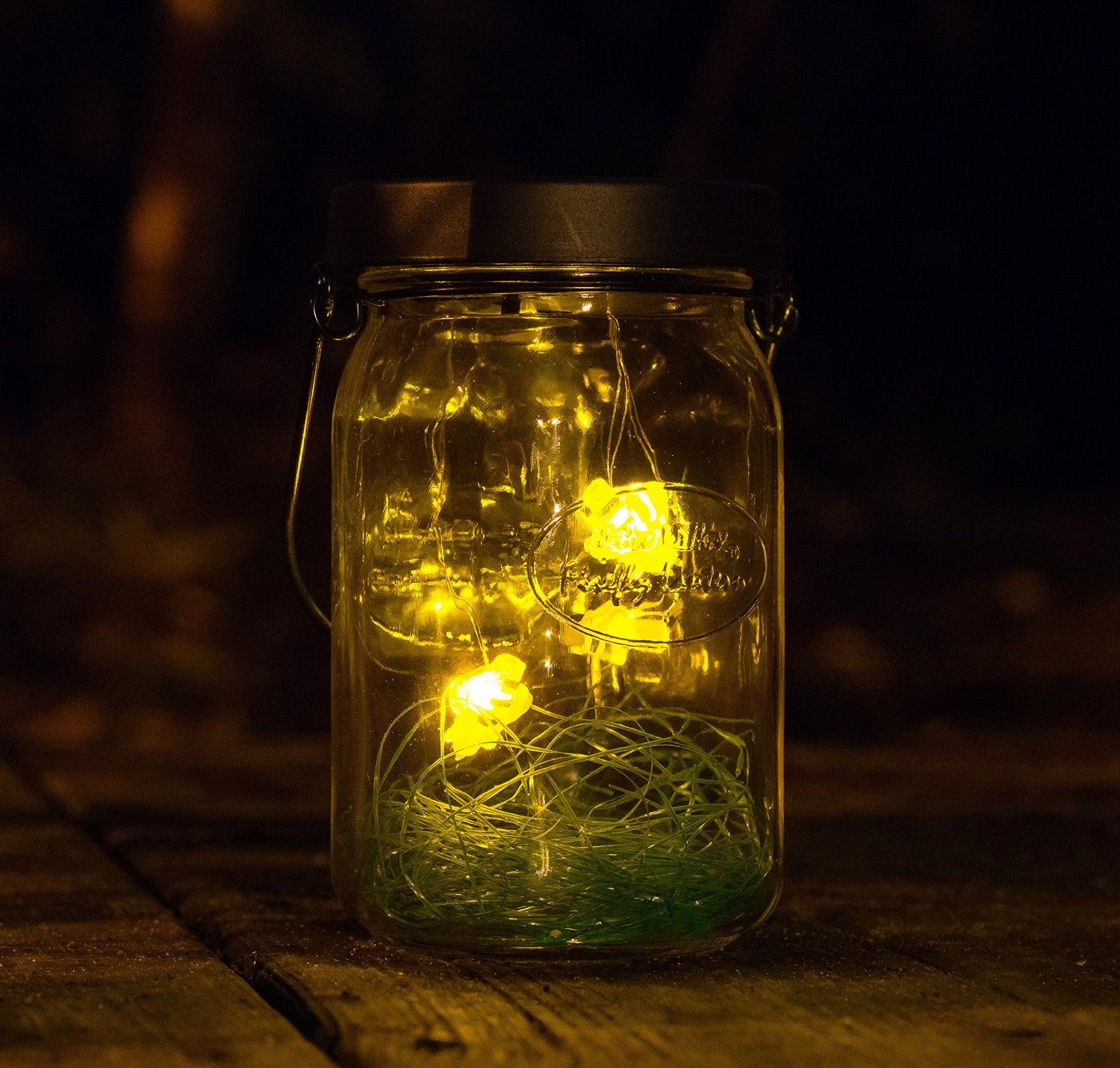Solar Powered Decorative Jar Light LED Light