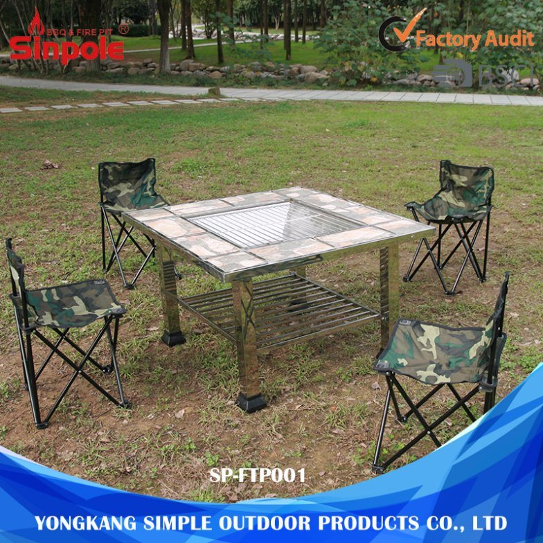 Different Types Camping Outdoor High Top Fire Pit Table