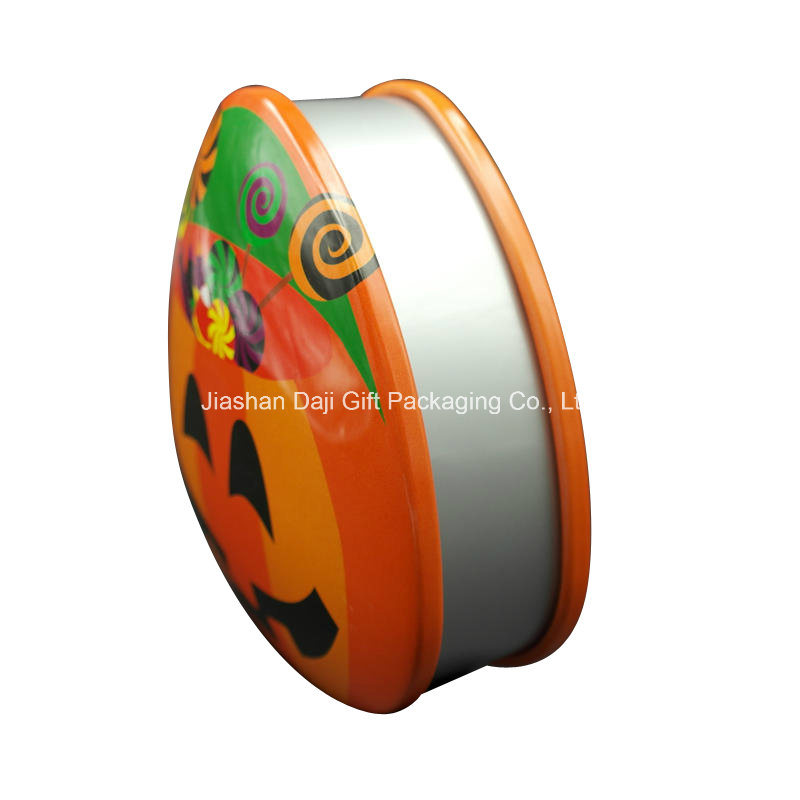 Halloween Metal Tin Gift Cookie Packaging Box (T001S-V27)