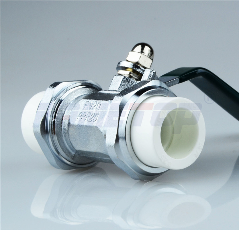 PPR Double Union Ball Valve for Hot Water