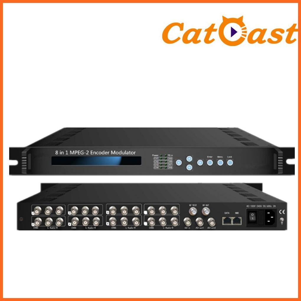 8 Channels AV Modulator with DVB-T RF out