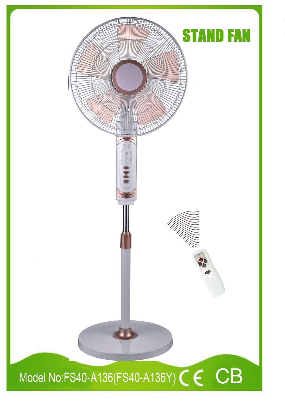 New Design Good Quality 16 Inch Stand Fan with Ce CB Certificate (FS40-A136)