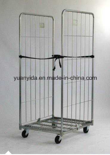 2-Sided Zinc Plating Foldable Logistical Roll Pallets/Roll Containers/Hand Trolley