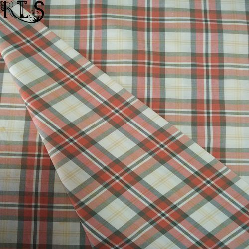 100% Cotton Poplin Woven Yarn Dyed Fabric for Shirts/Dress Rlsc40-9
