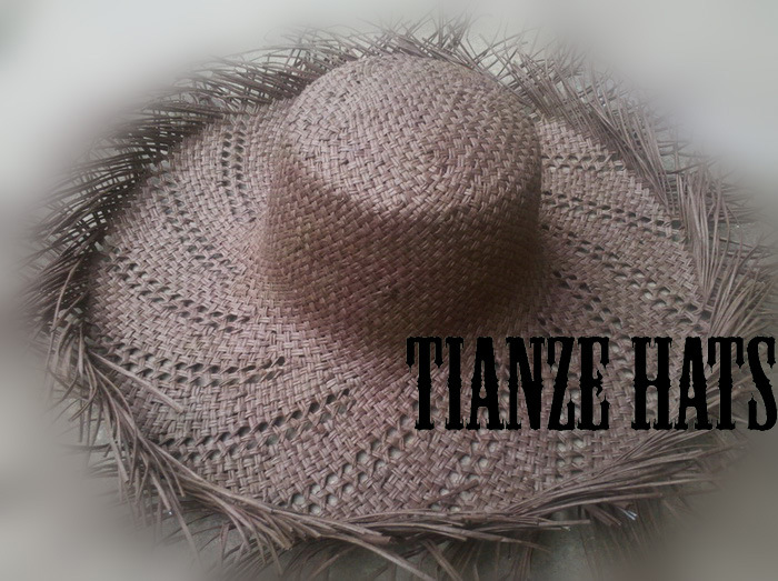 Brown Twist Paper Straw Hat Body