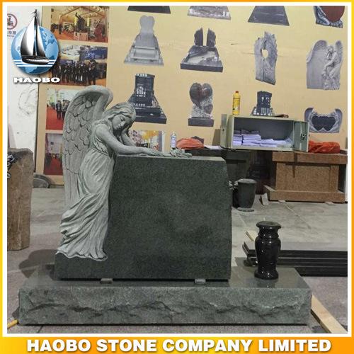 Full Carved in Sorrow Angel Design Headstone Granite Marble Sandstone
