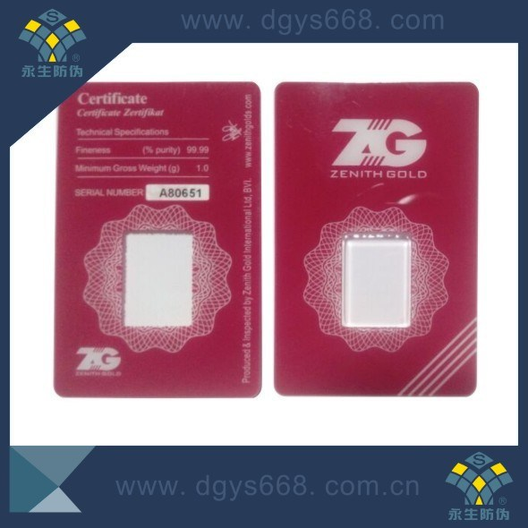 Gold Coin Packaging Card Printing